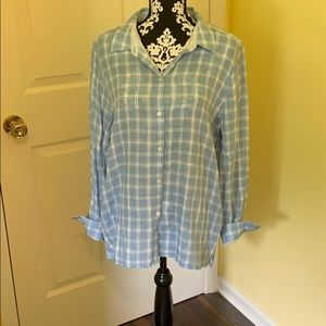 J. Jill Plaid Button Down